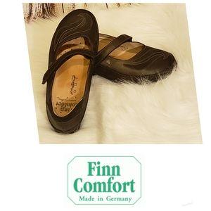 NWOB Finn Comfort Glendale Black mary jane Shoes